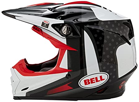 Amazon.es: Bell Cascos MX 2017 Moto-9 Flex adultos casco, Vice negro/blanco, tamaño mediano