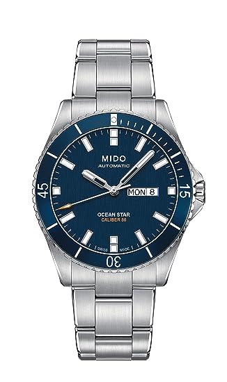 Mido Reloj Analógico para Hombre de Automático con Correa en Acero Inoxidable M0264301104100: Mido: Amazon.es: Relojes