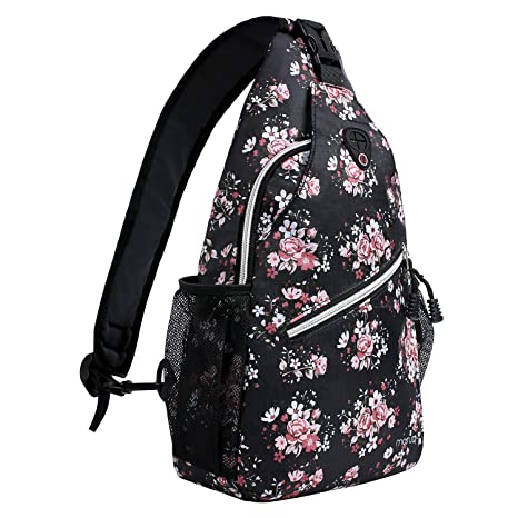 8b88dc2c385 Mosiso Sling Backpack, Durable Polyester Water Repellent Chest Shoulder  Unbalance Gym Fanny Lightweight Crossbody Sack