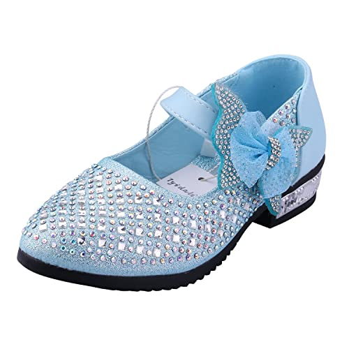 Tyidalin Zapato Princesa Niña Sandalias de Vestido Flat Shoes Bailarinas Princesa Zapatos con Tacón Para Cumpleaños