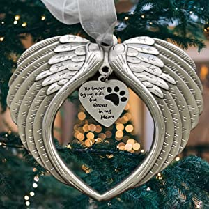 K9King Pet Memorial Gifts - Antique Dog Memorial Christmas Ornament with Angel Wings - Pet Loss Gifts for Dogs - Pet Remembrance Decorative Ornaments for Christmas Tree - Pet Cat Sympathy Keepsake