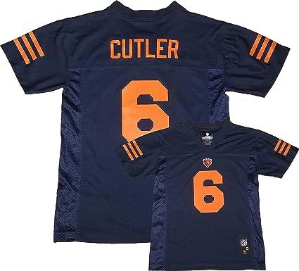 Jay Cutler Chicago Bears  6 Navy Blue Youth Alternate Mid Tier Jersey (Medium  10 d70f3ac25