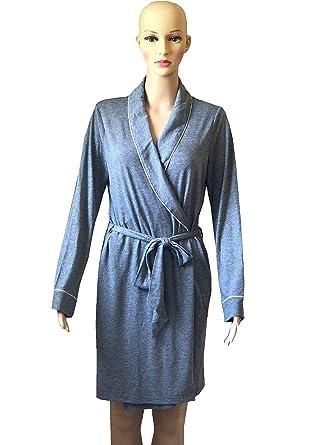 a3bb23b9adb1c Victoria's Secret Sleepover Cotton Knit Robe S/P Gray at Amazon ...