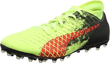 Puma Future 18.2 Netfit MG, Chaussures de Football Homme, Jaune (Fizzy Yellow-Red Blast Black), 47 EU
