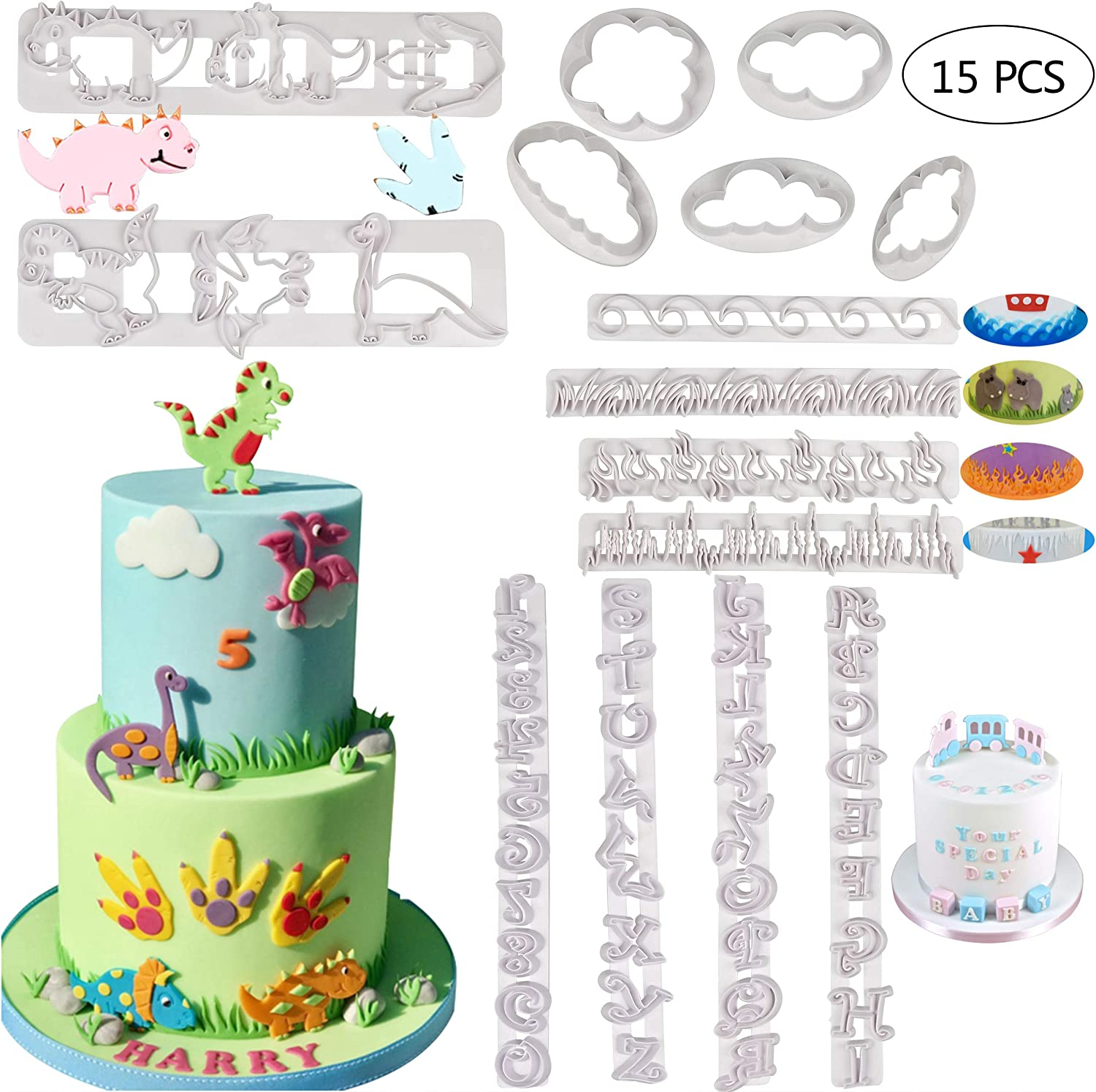 Brand New WILTON Oval Fondant Cookie Cut-Outs Set of 3 Cake Decorating Cupcake!