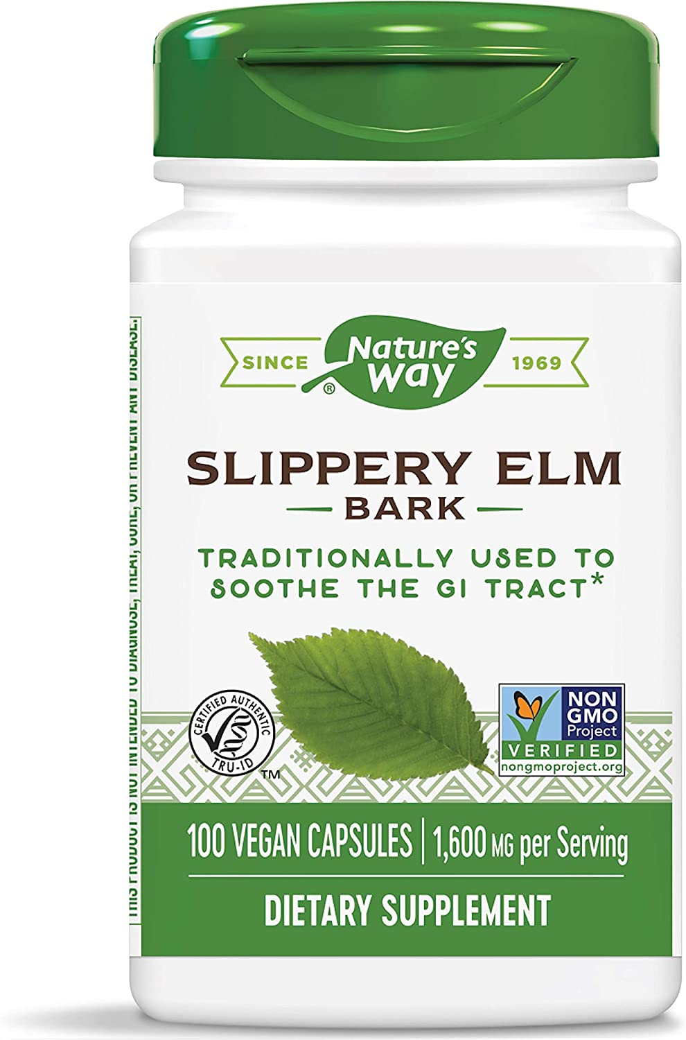 Nature's Way Slippery Elm Bark (Packaging May Vary): Health & Personal Care