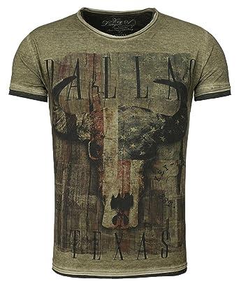 Key Largo Herren T-Shirt MT Cowboys Kurzarm  Amazon.de  Bekleidung b6758b50a5