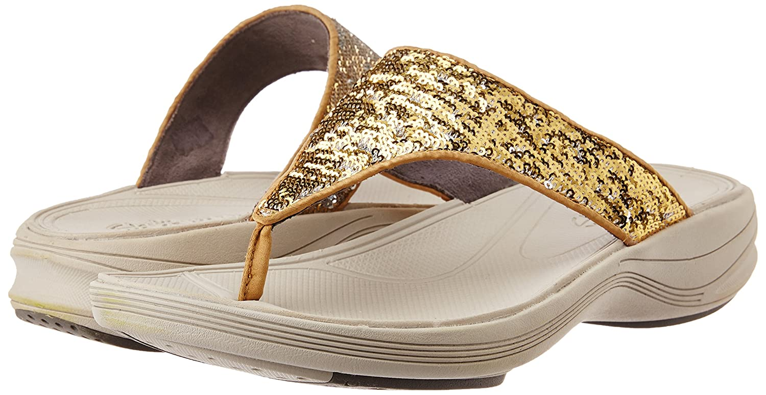 e3eec1af2e6276 Clarks Women s Walk Flash Gold Slippers -7UK India (41EU)(CK-210)  Buy  Online at Low Prices in India - Amazon.in