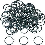 Willbond 100 Stück Dunkelgrün Kunststoff Beschichtet Pflanzenring Pflanzen Ringe Garten Ringe