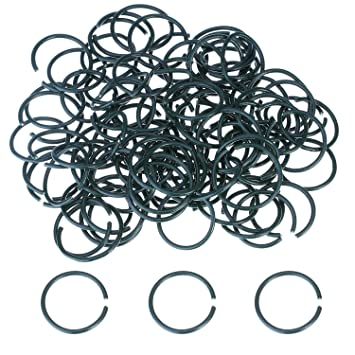Brand New Reusable 100 Pieces Dark Black Plastic Coated Plant Rings Garden