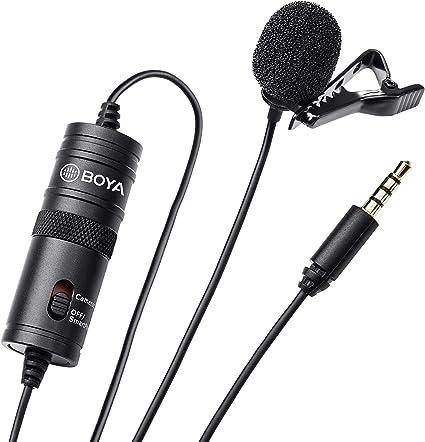 BOYA by-M1 - Micrófono de Condensador de 3,5 mm con Parabrisas ...