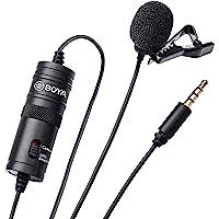 Microfone de Lapela BOYA BY-M1, Omni Direcional - Preto