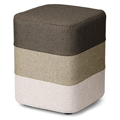 Brilliant Coqofa Diy Soft Ottoman Foot Rest Stool Square Sofa Stool Modern Furniture With Washable Cover And Memory Foam Brown Ocoug Best Dining Table And Chair Ideas Images Ocougorg