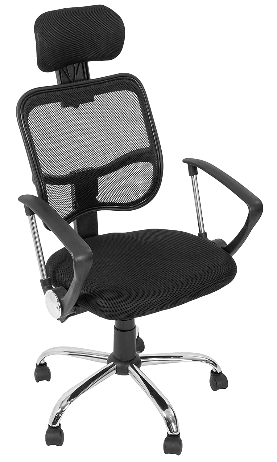 Amazon.com  VIVO Black Sleek Economy High Back Office Height Adjustable Swivel Mesh Computer Chair Arm and Head Rest (CHAIR-V001)  Office Products  sc 1 th 290 & Amazon.com : VIVO Black Sleek Economy High Back Office Height ...