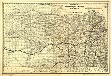 Amazon.com: Map: 1886 showing the Atchison, Topeka & Santa Fé Rail on highway 666 new mexico maps, kansas hwy maps, motorcycle road trip maps, kansas roadway maps, kansas street maps, kansas highway atlas, kansas county map printable, kansas county atlases, kansas road map with counties, kansas state road maps,