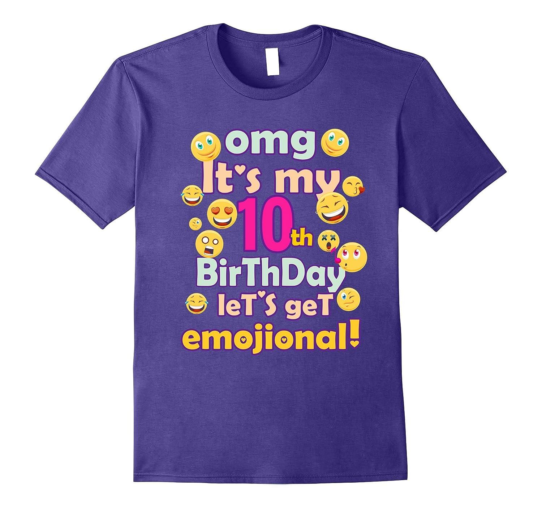 OMG Its My 10th Birthday Cute Emoji T-shirt For Kids  baby-CD
