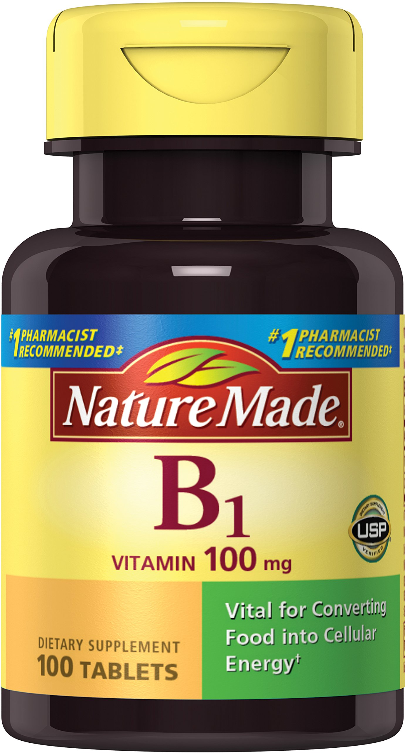 Nature Made Vitamin B1, 100mg, 100 Tablets (Pack of 6) by Nature Made