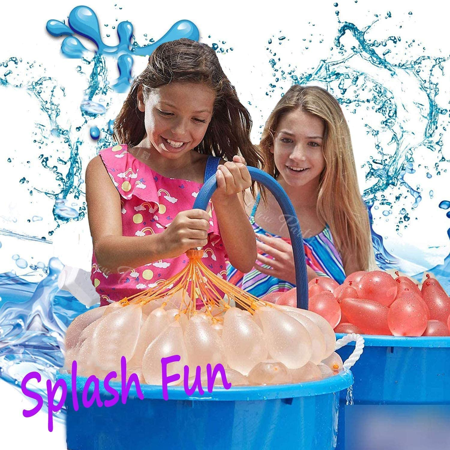 SDFLAYER Water Balloons for Kids Girls Boys Balloons Set Party Games Quick Fill 592 Balloons 16 Bunches for Swimming Pool Outdoor Summer Fun IOPH