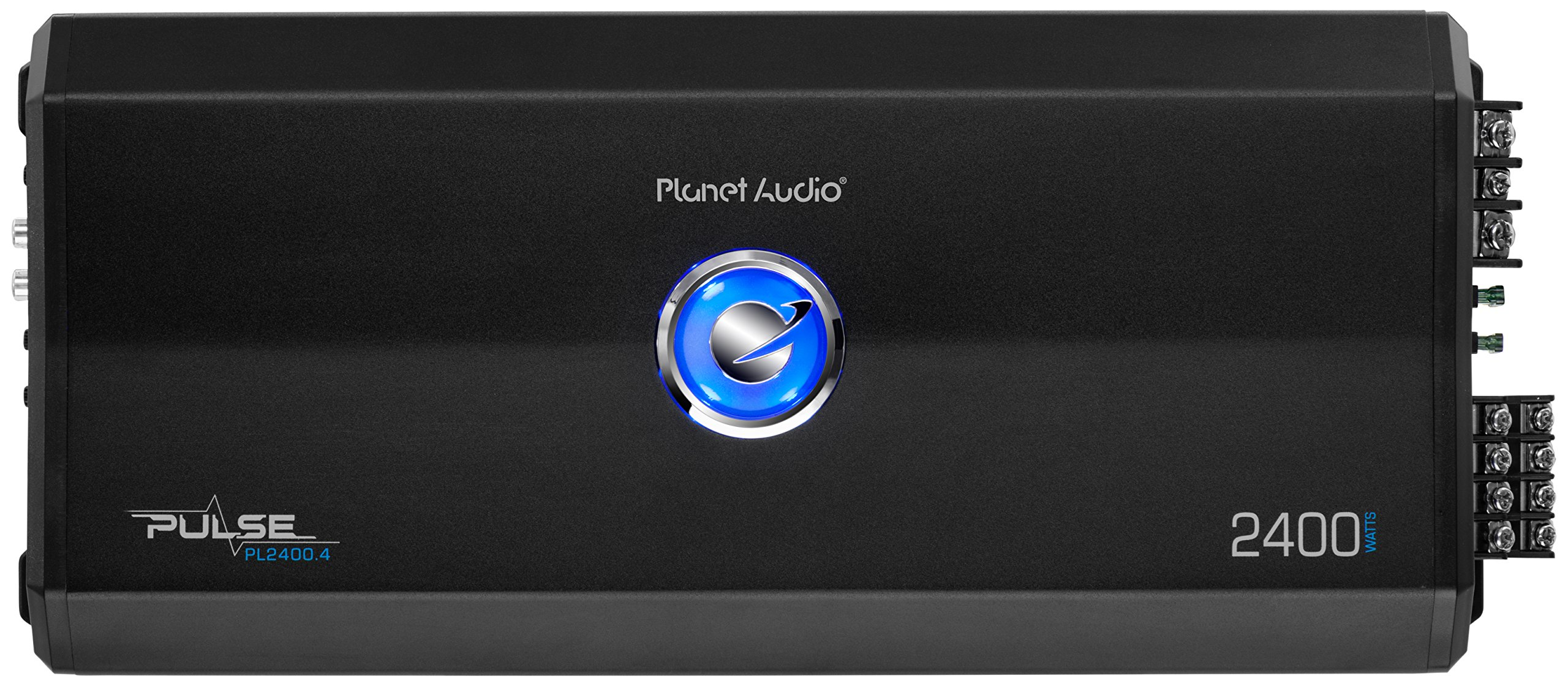 Planet Audio PL2400.4 Pulse 2400 Watt, 4 Channel, 2 to 8 Ohm Stable Class A/B, Full Range, Bridgeable, MOSFET Car Amplifier with Remote Subwoofer Control