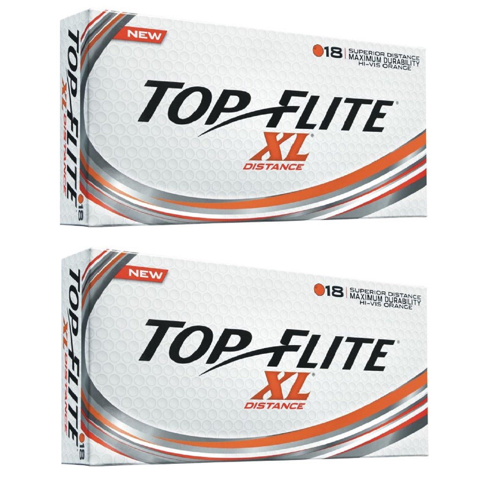2pk Top Flite XL Distance Golf Balls - Orange - 36 Balls by Top Flight (Image #1)