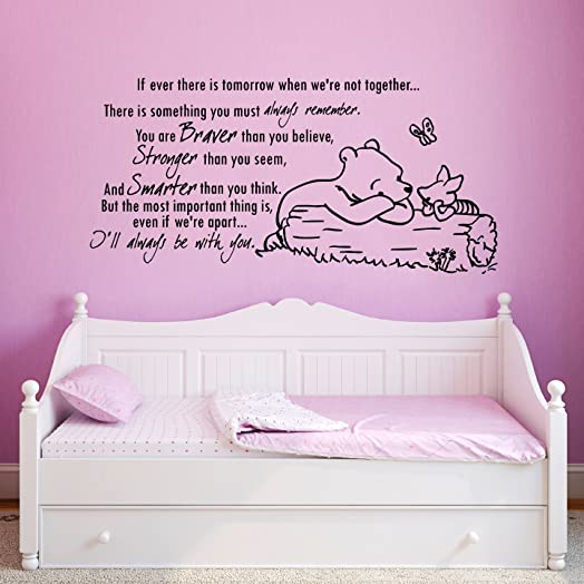 Wall Decals Quotes Winnie The Pooh Quote   If Ever There Is A Tomorrow When  We Part 76