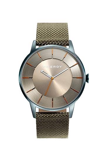 Viceroy Reloj Analógico para Hombre de Cuarzo con Correa en Nailon 471141-17: Amazon.es: Relojes