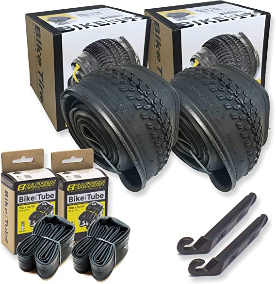 Hybrid Gravel Bicycle Tire Repair Kit – 700 x 35c – Studded Tires & Optional Tubes: Hybrid Bike