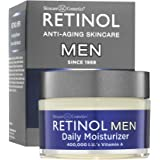 Retinol Men's Daily Moisturizer – The Original Retinol Moisturizing Cream Made For A Man's Skin – Anti-Aging Benefits of Exfoliating Vitamin A & Deep Hydration For Healthier, Younger Looking Skin