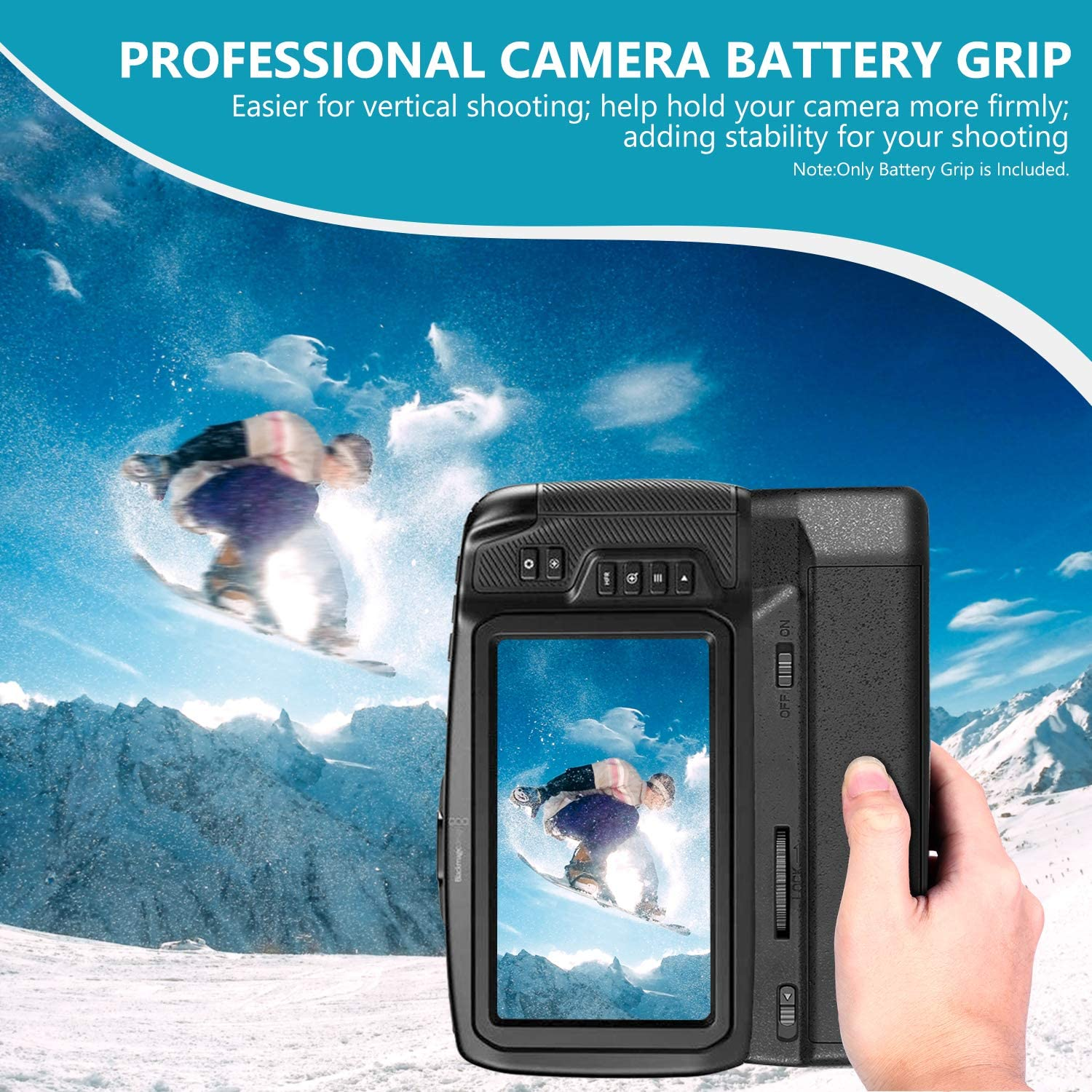 Only Works With Lp E6 E6n Battery Battery Not Included Neewer Hm Battery Grip Compatible With Blackmagic Pocket Cinema Camera 6k 4k With Type C Usb Adapter Camera Photo Digital Camera Accessories