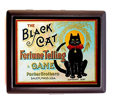 Black cat fortune telling game cigarette case business card holder wallet victorian board game box black cat fortune telling game cigarette case business card holder wallet victorian board game box reheart Images