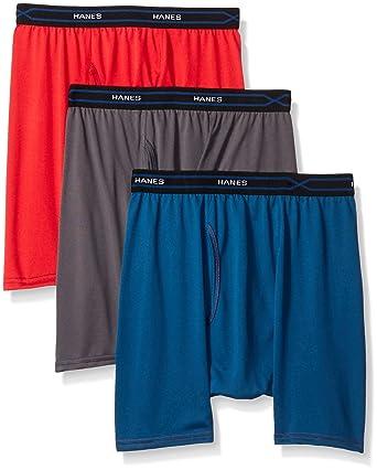 170fec53f Hanes Men's 3-Pack X-Temp Performance Cool Regular Boxer Brief at Amazon  Men's Clothing store: