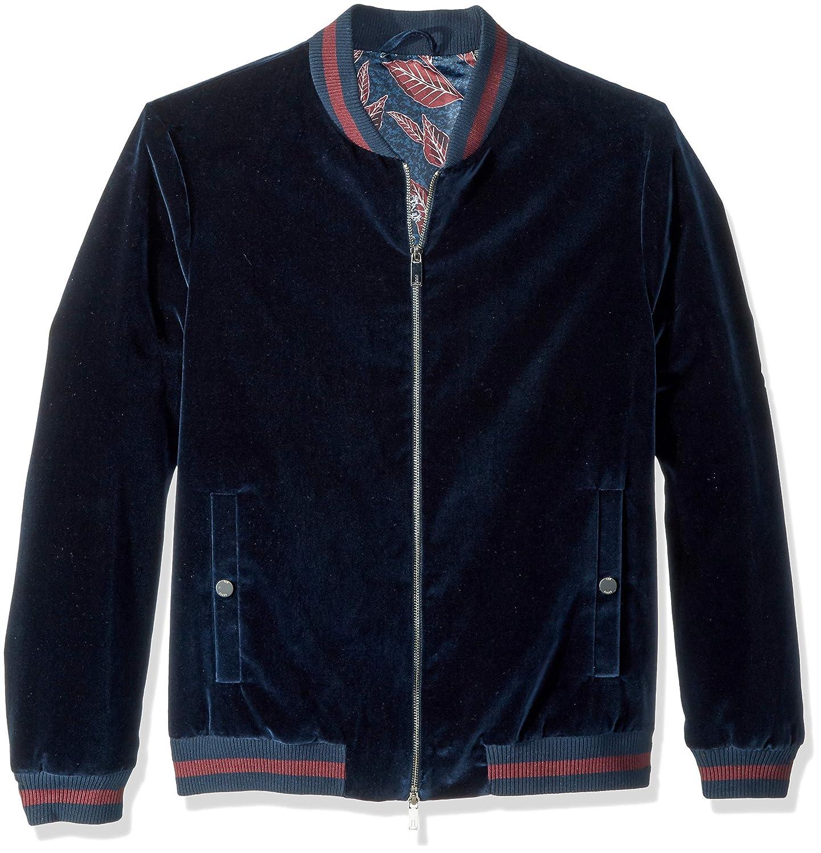 Ted Baker Men's Haydon Modern Slim Fit Velvet Bomber Jacket TA7M-GJ70-HAYDON