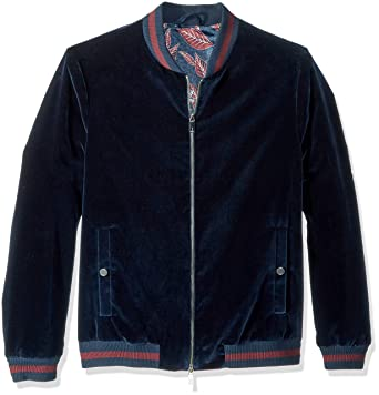 d8a32f780 Amazon.com  Ted Baker Men s Haydon Modern Slim Fit Velvet Bomber ...