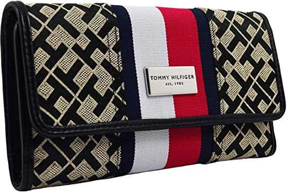 Amazon.com: Tommy Hilfiger Logo Continental - Cartera para ...