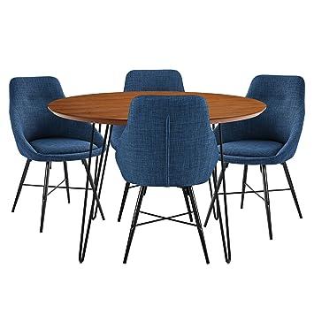 Amazon.com: Nos muebles az46rdhpwt-5 Juego de comedor de ...