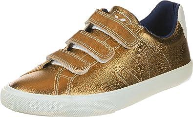 VEJA Esplar Leather 3 Locks Ambre Chaussures Femme Doré
