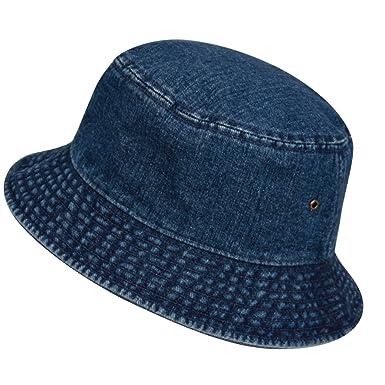 89e672f519fb5 Casual Denim Jean Summer Bucket Hat