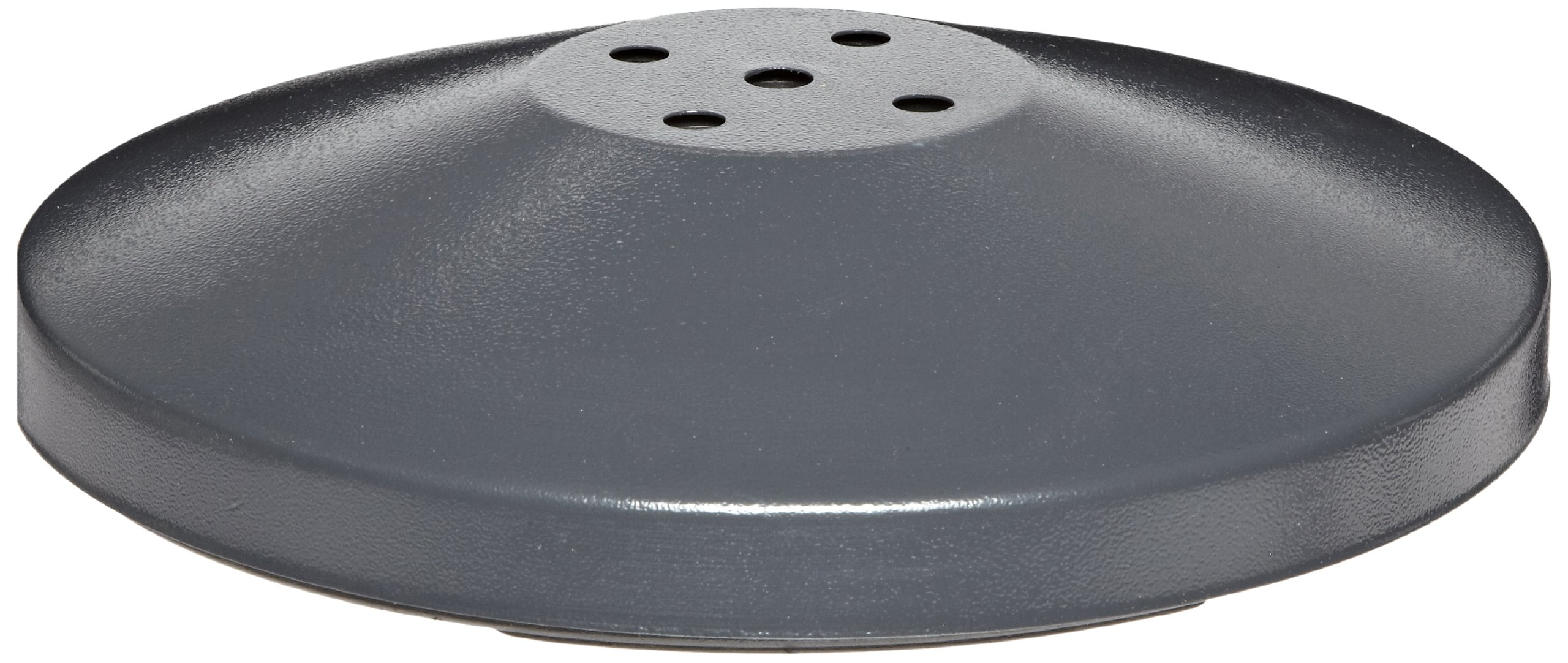 Impact 4454BS Tube Base, 11-3/4'' Diameter x 2-1/4'' Height, For Stand Alone Ashtray, Gray (Case of 2)