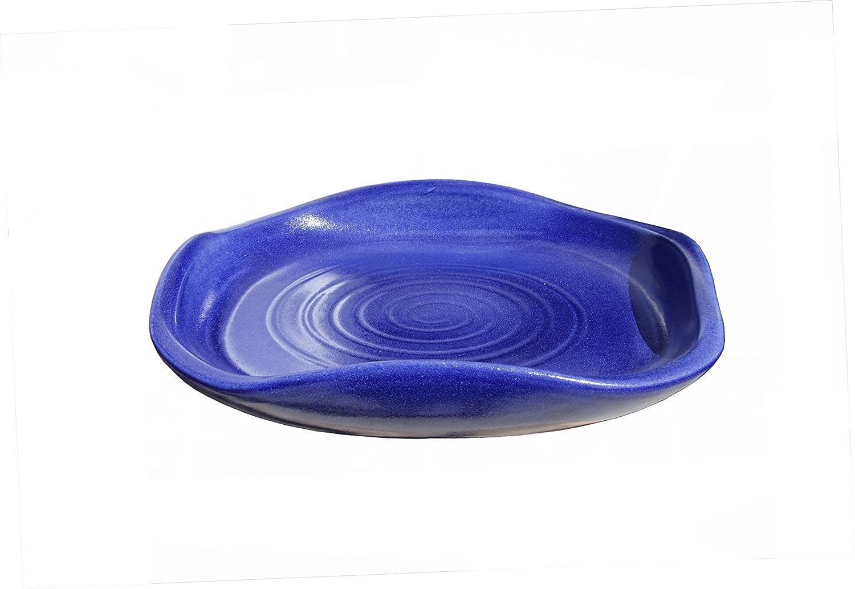 465.030.64 Made in Germany 100/% wasserdicht Hentschke Keramik Vogeltr/änke Vogelbad frostsicher formsch/ön /Ø 30 x 6 cm Effekt blau