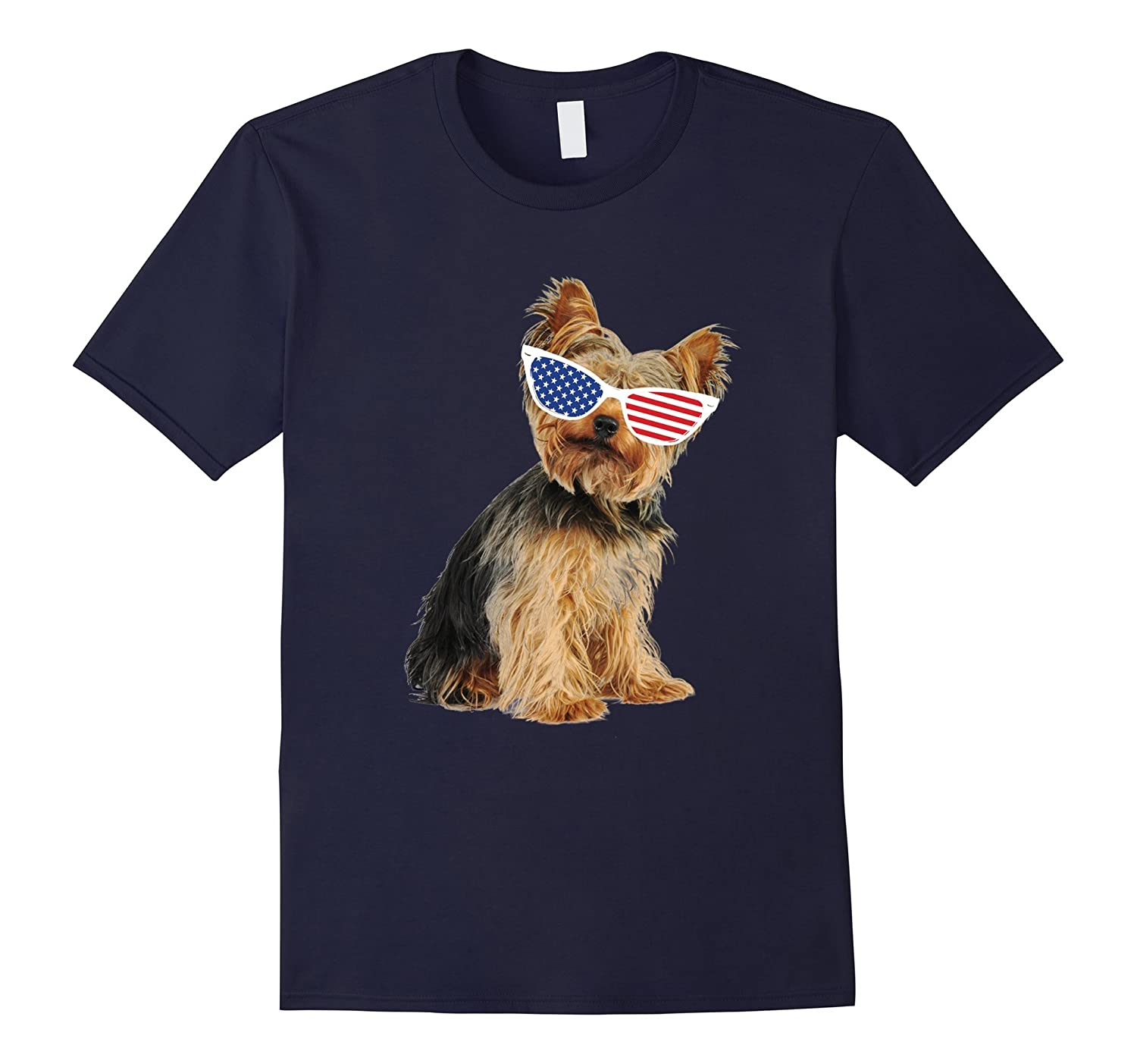 Yorkie Independence Day 4th of July T Shirt For Dog Lover-TH