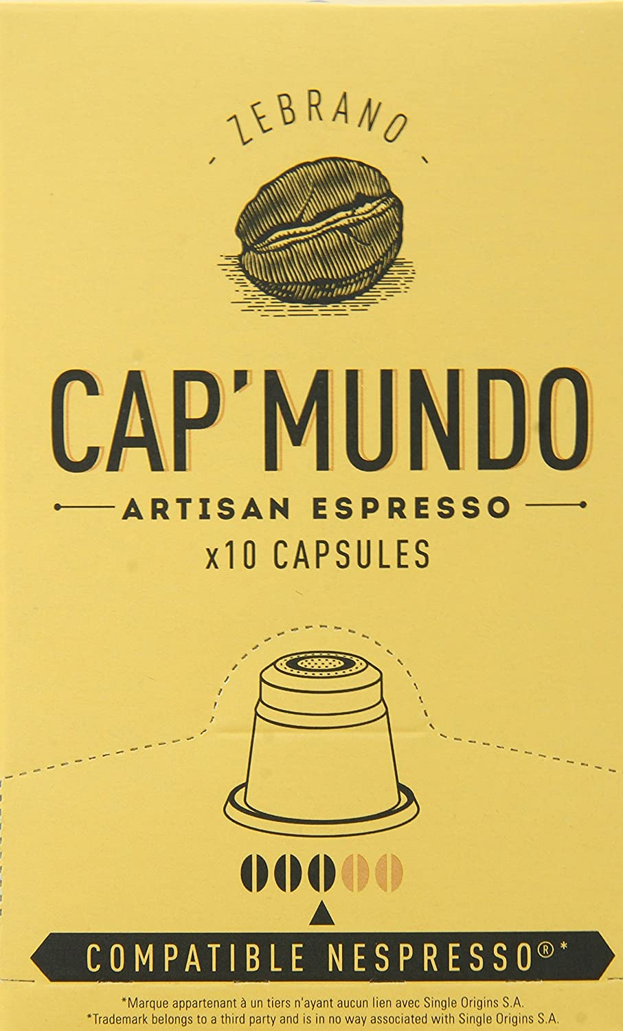 Cap Mundo Single-Cup Coffee for Nespresso Brewers, Ebene, 10 Count (Pack of 6): Amazon.com: Grocery & Gourmet Food