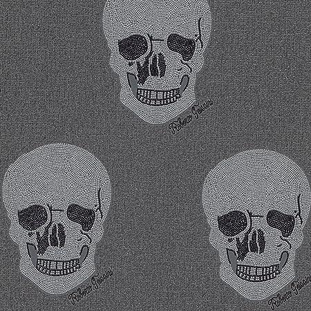 Rasch Roberto Geissini Skulls Wallpaper Grey And Silver