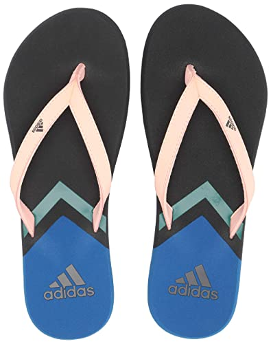 reputable site 57a01 80787 adidas Womens Eezay Flip Flop, Clear OrangeGreyTrue Blue, ...