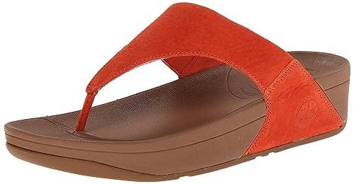 f37964b8b Fitflop Women s Lulu Nubuck Heels Sandals Orange (Flame 210) 5 UK ...