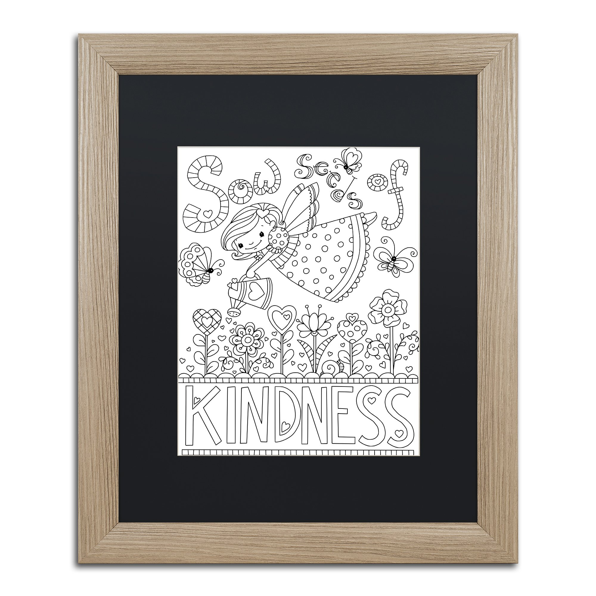 Sow Seeds by Jennifer Nilsson, Black Matte, Birch Frame 16x20-Inch by Trademark Fine Art