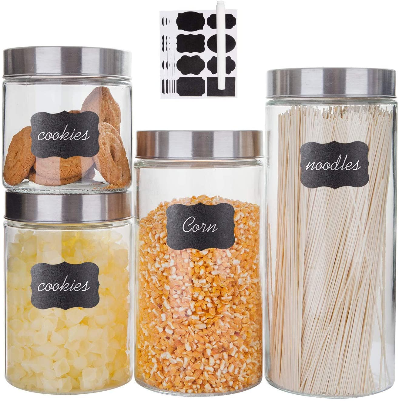 food storage containers 3pcs glass