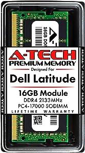 A-Tech 16GB RAM for Dell Latitude E7470, E7270, E5570, E5470, E5270 | DDR4 2133MHz SODIMM PC4-17000 Laptop Memory Upgrade Module