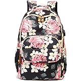 Leaper Water-resistant Floral School Backpack Travel Bag Girls Bookbags Satchel