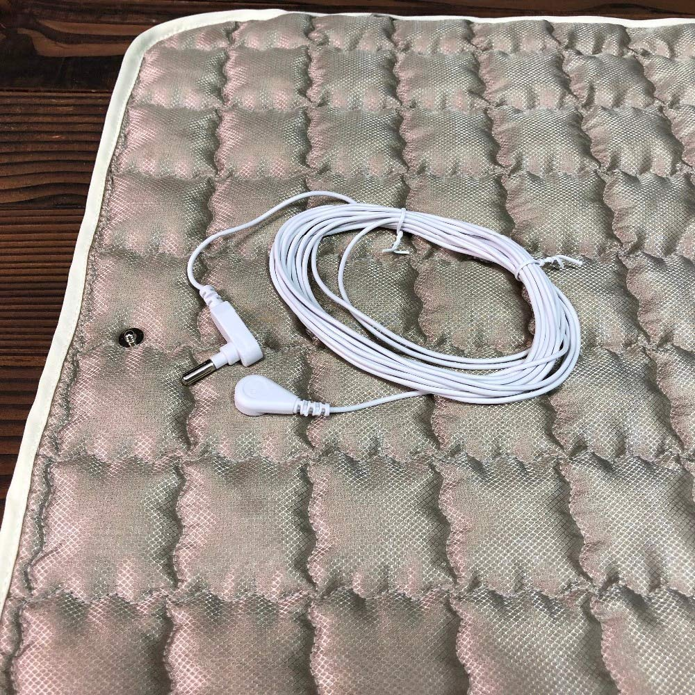 Grounding/Earthing Plush Silver Pad 20'' x 28'' with Grounding Cord by Healthy Hippie Rx