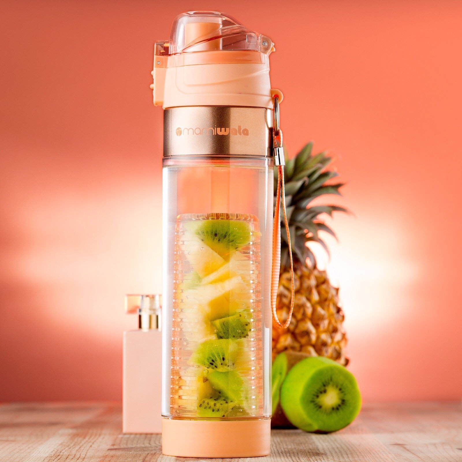 7458d67a76 MAMI WATA Fruit Infuser Water Bottle – Create Naturally Flavoured Fruit  Infused Water – Unique stylish design, Beautiful Gift Box, Insulated  sleeve, ...